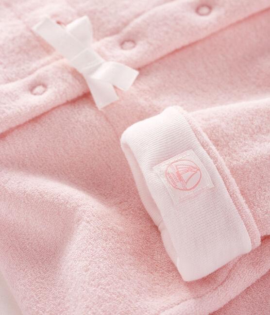 Combinaison longue rose bébé en bouclette éponge grattée extra chaude JOLI