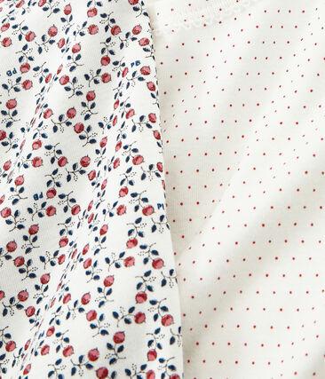 Duo de tee-shirts petite fille lot .