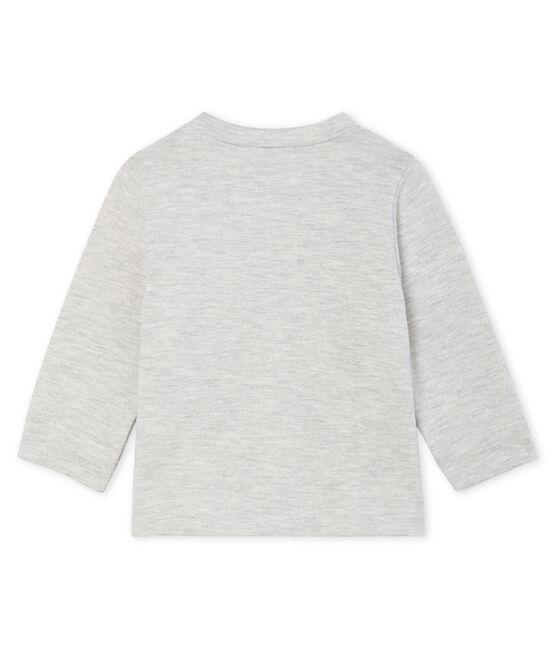 Tee shirt manches longues bébé garçon gris Beluga
