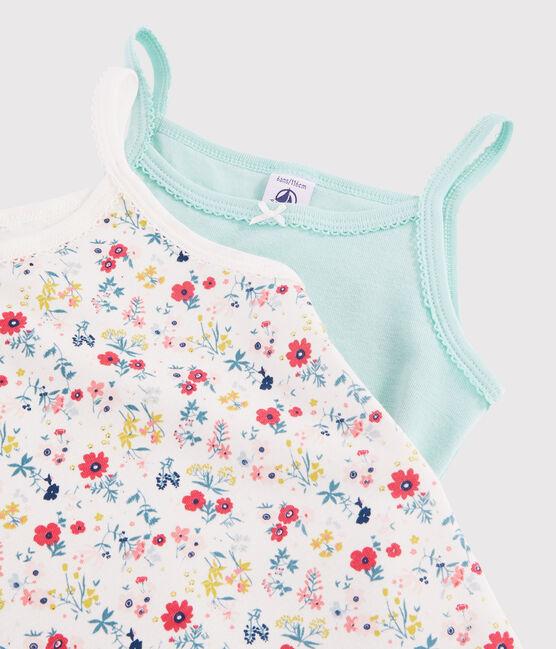 Lot de 2 chemises à bretelles imprimé fleuri petite fille lot .