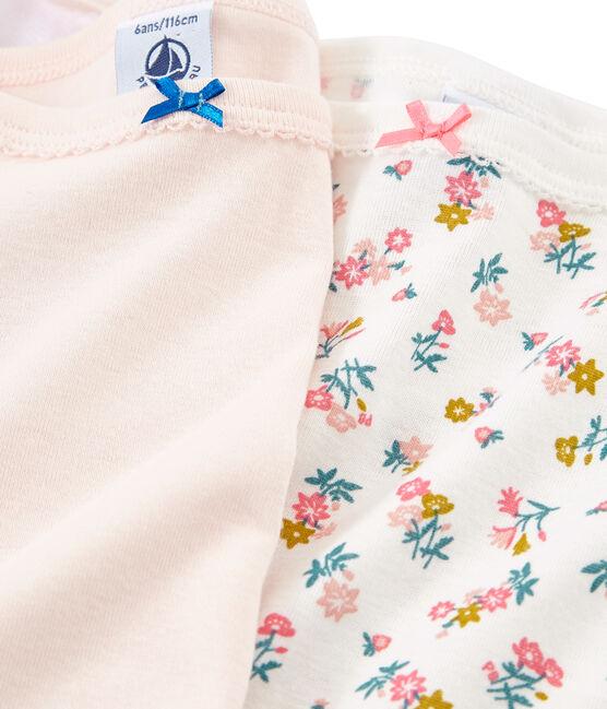Duo de chemises à bretelles petite fille lot .