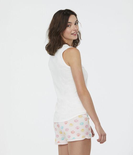 Pyjacourt fille en côte rose Fleur / blanc Multico