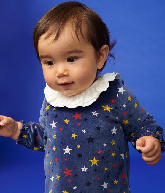 Ensemble deux pièces bébé fille bleu Medieval / blanc Multico