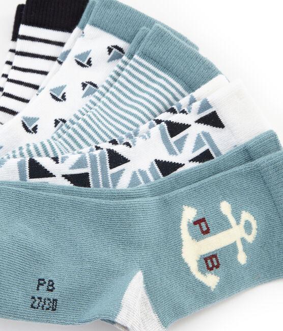 Semainier 5 paires de chaussettes enfant garçon lot .
