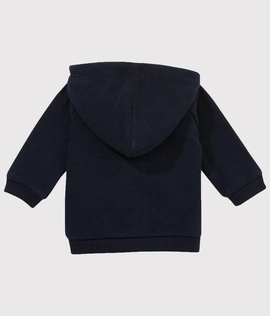 Sweatshirt zippé en polaire bébé garçon bleu Abysse