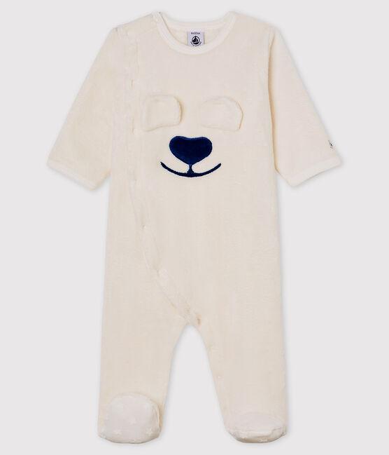 Surpyjama ours bébé en polaire blanc Marshmallow