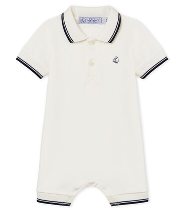 Combicourt polo bébé garçon blanc Marshmallow