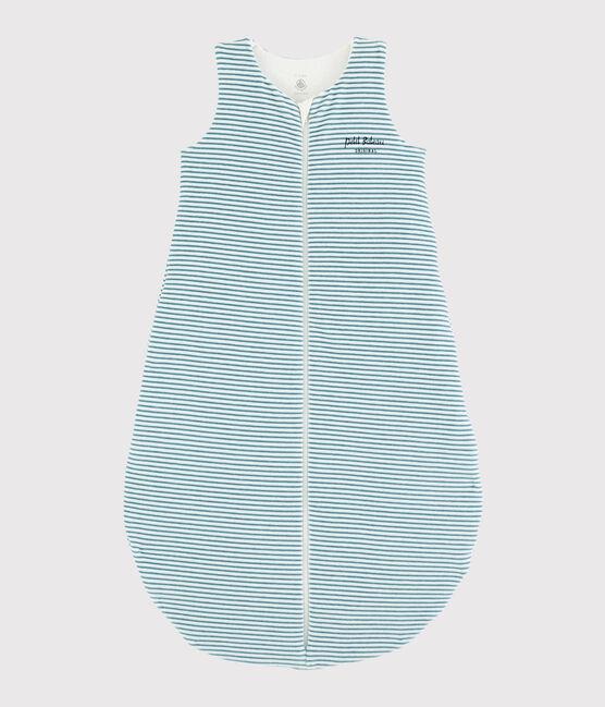 Gigoteuse à rayures bébé en côte MARSHMALLOW/BRUME