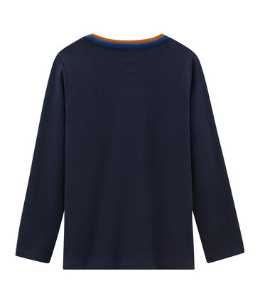 Tee-shirt manches longues garçon bleu Smoking