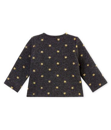 Cardigan bébé fille imprimé étoiles dorées