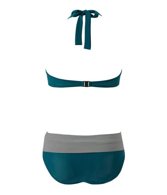 Maillot de bain 2 pièces femme vert Rivage