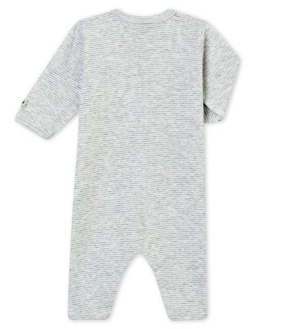 Dors bien sans pieds bébé garçon gris Poussiere / blanc Marshmallow