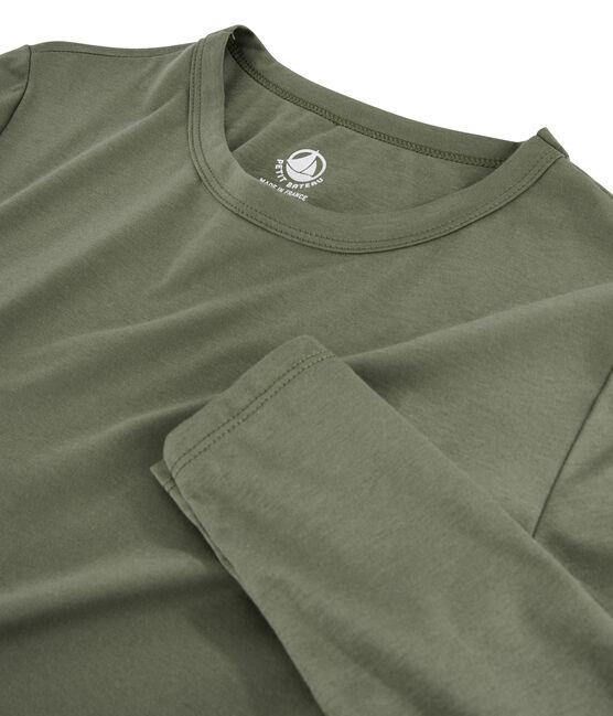 Tee shirt coton Sea island femme vert Litop