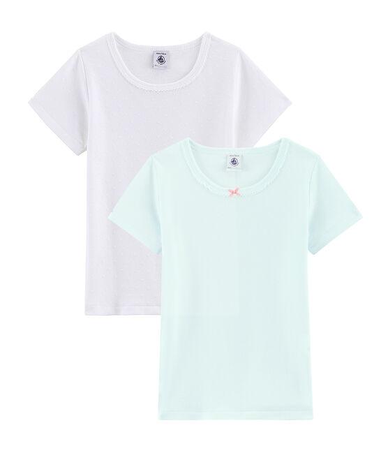 Lot de 2 tee-shirts petite fille lot .