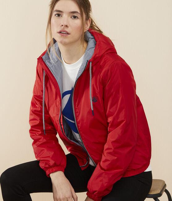Coupe-vent chaud recyclé Femme rouge Terkuit