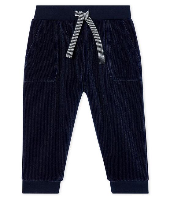 Pantalon bébé garçon en maille velours côtelé SMOKING