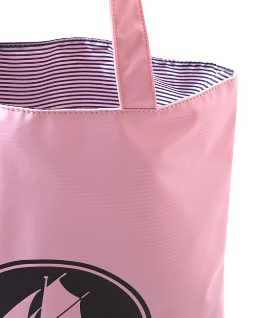Sac shopping femme uni déperlant rose Babylone