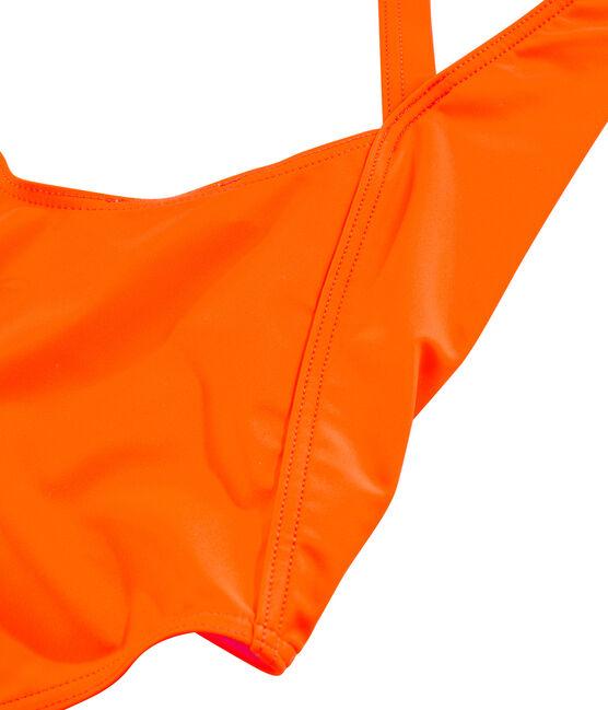 Maillot de bain 1 pièce écoresponsable orange Tiger