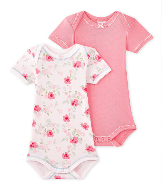 Lot de 2 bodies bébé fille manches courtes lot .