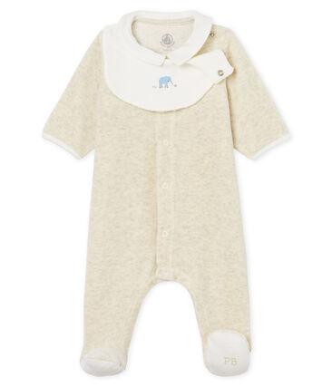 86238073d5d3e Dors-bien et bavoir bébé mixte en velours de coton