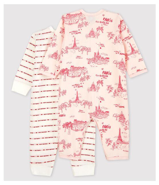 Lot de 2 dors-bien sans pieds bébé fille en coton lot .