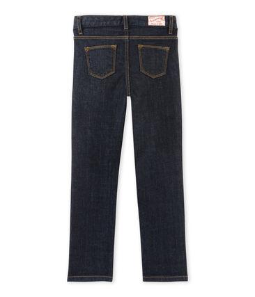 Pantalon fille en jean brut bleu Jean