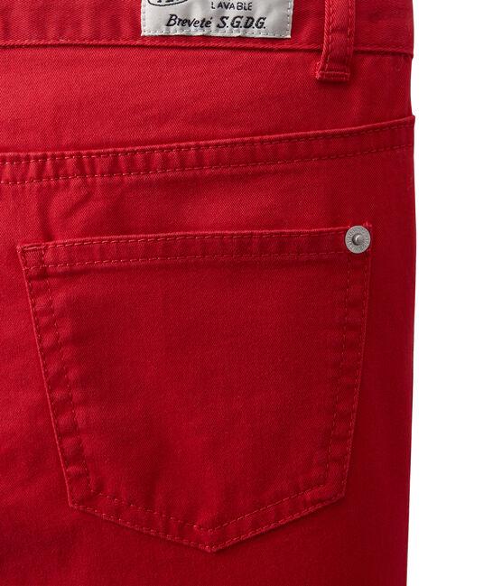 Pantalon de couleur garçon en jean rouge Terkuit