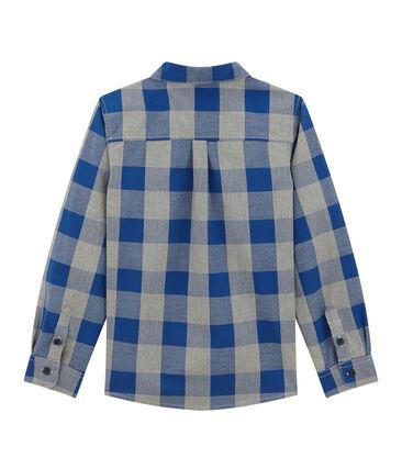 Chemise à carreaux garçon en popeline