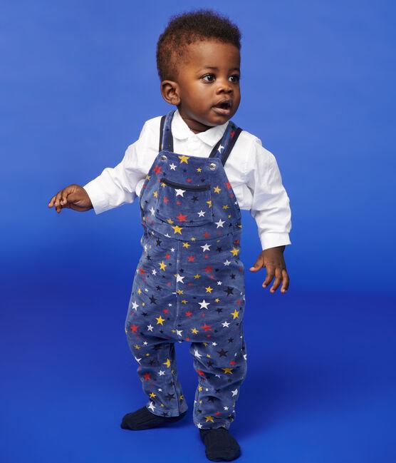 Salopette longue bébé garçon bleu Medieval / blanc Multico
