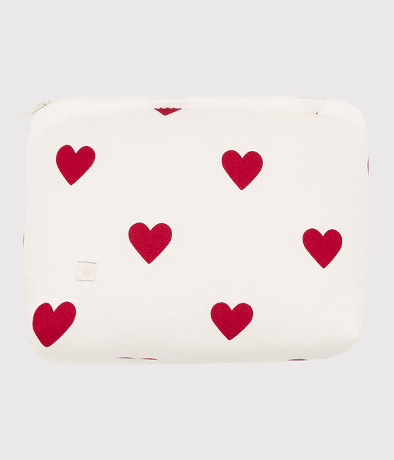 Trousse cœur rouge bébé en coton blanc Marshmallow / rouge Terkuit