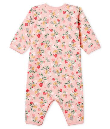 Dors bien sans pieds bébé fille moelleux rose Joli / blanc Multico