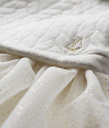 Robe manches longues pièces bébé fille gris Beluga