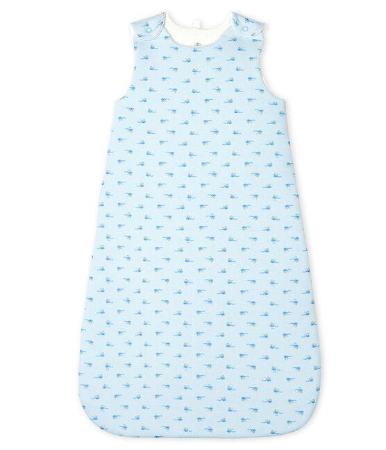 Gigoteuse bébé en côte bleu Fraicheur / blanc Multico