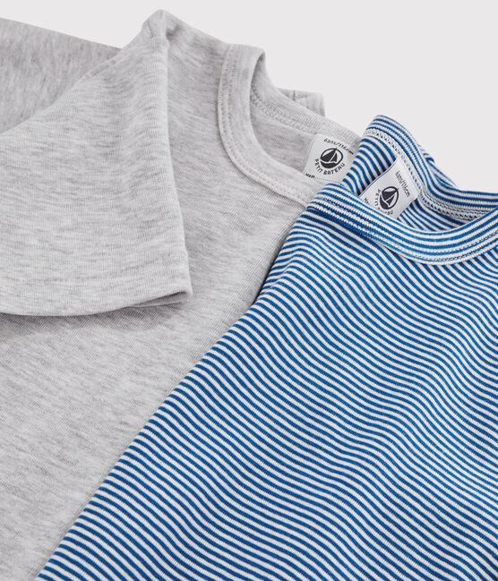 Lot de 2 tee-shirts manches courtes milleraies petit garçon lot .