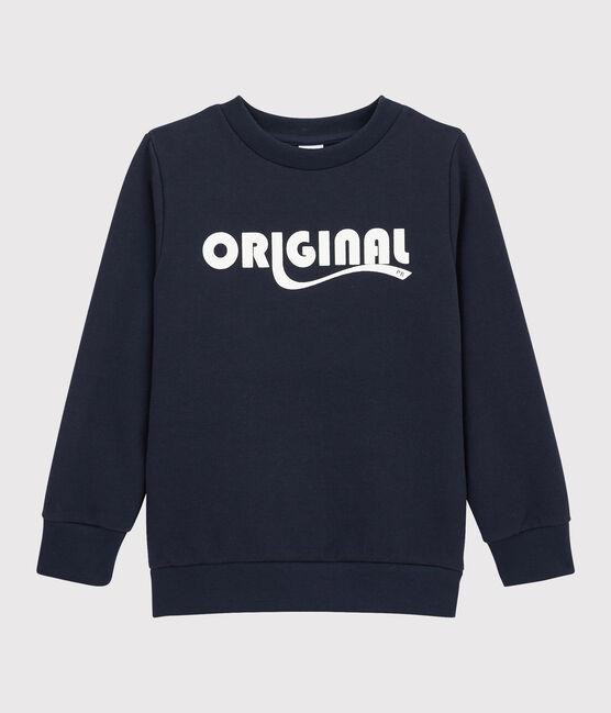 Sweatshirt enfant garçon bleu Smoking