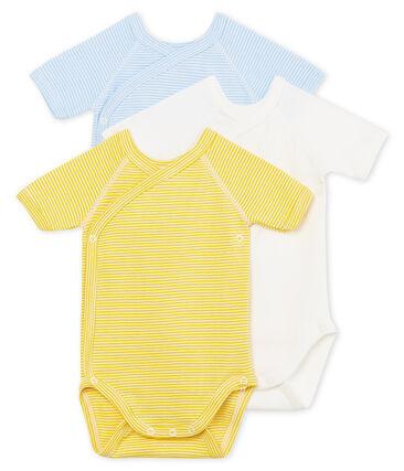 Trio de bodies naissance manches courtes bébé garçon