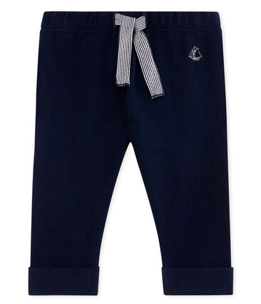 Pantalon bébé garçon en molleton léger uni