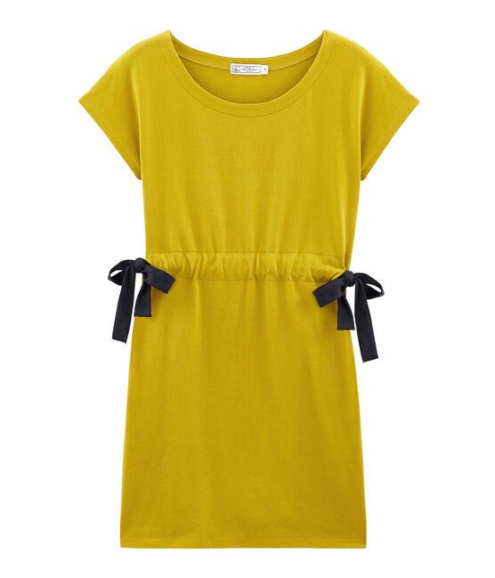 Robe manches courtes femme jaune Bamboo