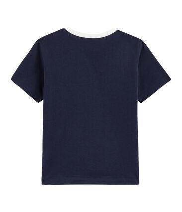 Tee-shirt enfant garcon bleu Smoking
