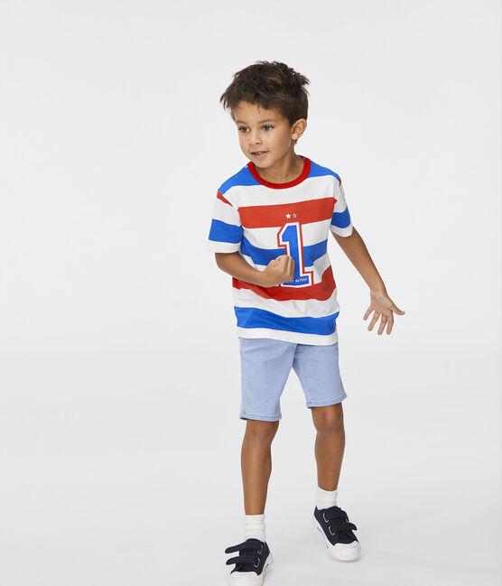 Bermuda enfant garçon bleu Denim Bleu