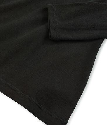 Sous-pull femme en coton léger noir Noir
