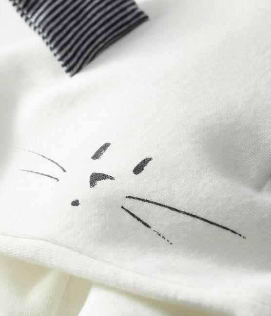 Cape iconique bébé mixte en côte ouatinée blanc Marshmallow / bleu Smoking