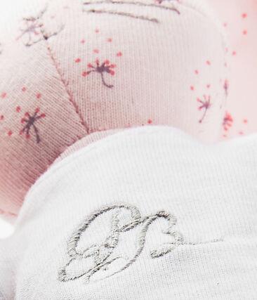 Doudou lapin imprimé rose Vienne / blanc Multico