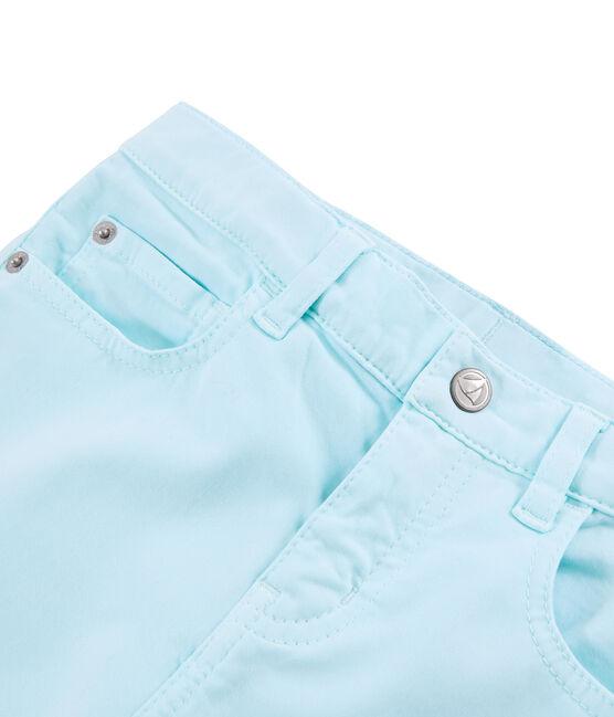 Pantalon enfant fille bleu Glacis