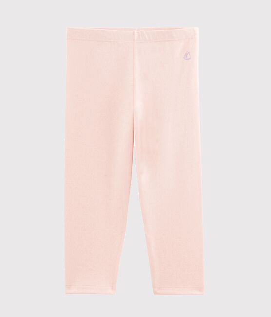 Legging en jersey lycra enfant fille rose Minois