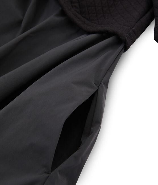 Robe bi-matière manches longues femme noir Noir