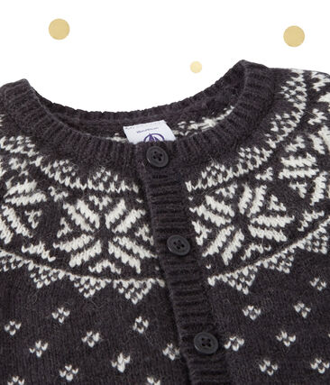 Cardigan jacquard bébé garçon en laine mélangée