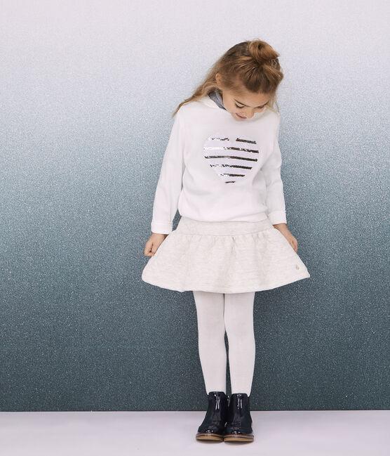 Jupe en tubique matelassé enfant fille gris Montelimar Chine