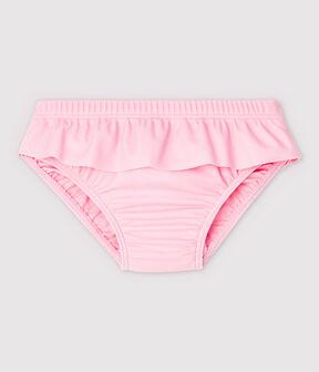 Bas de maillot de bain écoresponsable bébé fille rose Minois