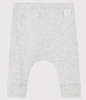 Caleçon bébé en côte 2x2 en coton biologique gris Beluga